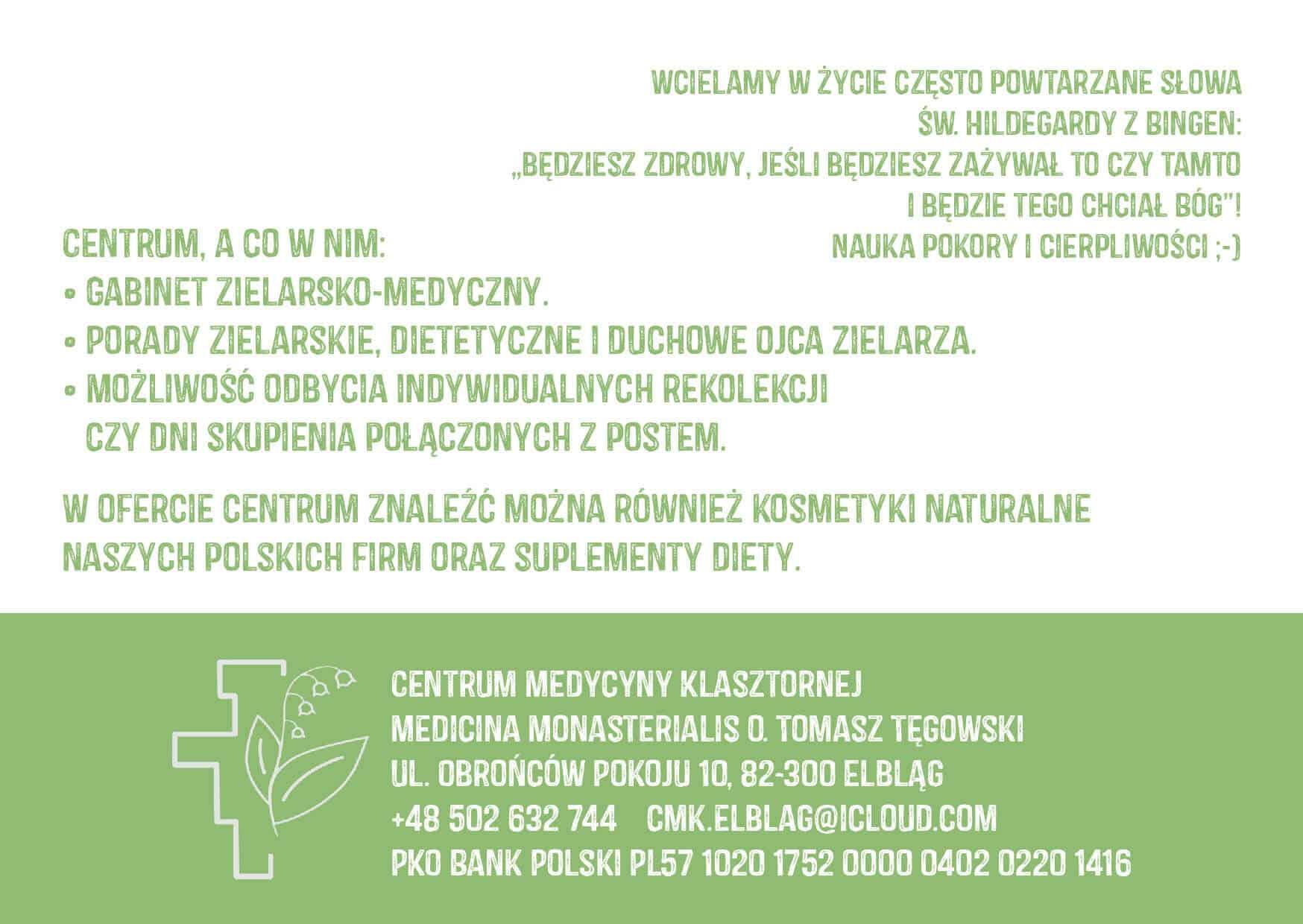Centrum Medycyny Klasztornej opis